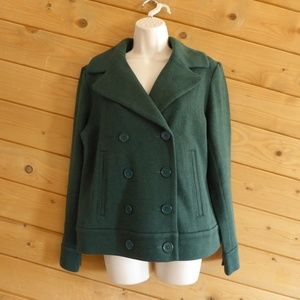 CAbi Forest Green Sweater Pea Coat Style 3159 M